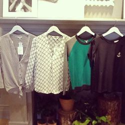 """""""The amazing tops I got at Joie today! The green cashmere is especially my favorite"""""""