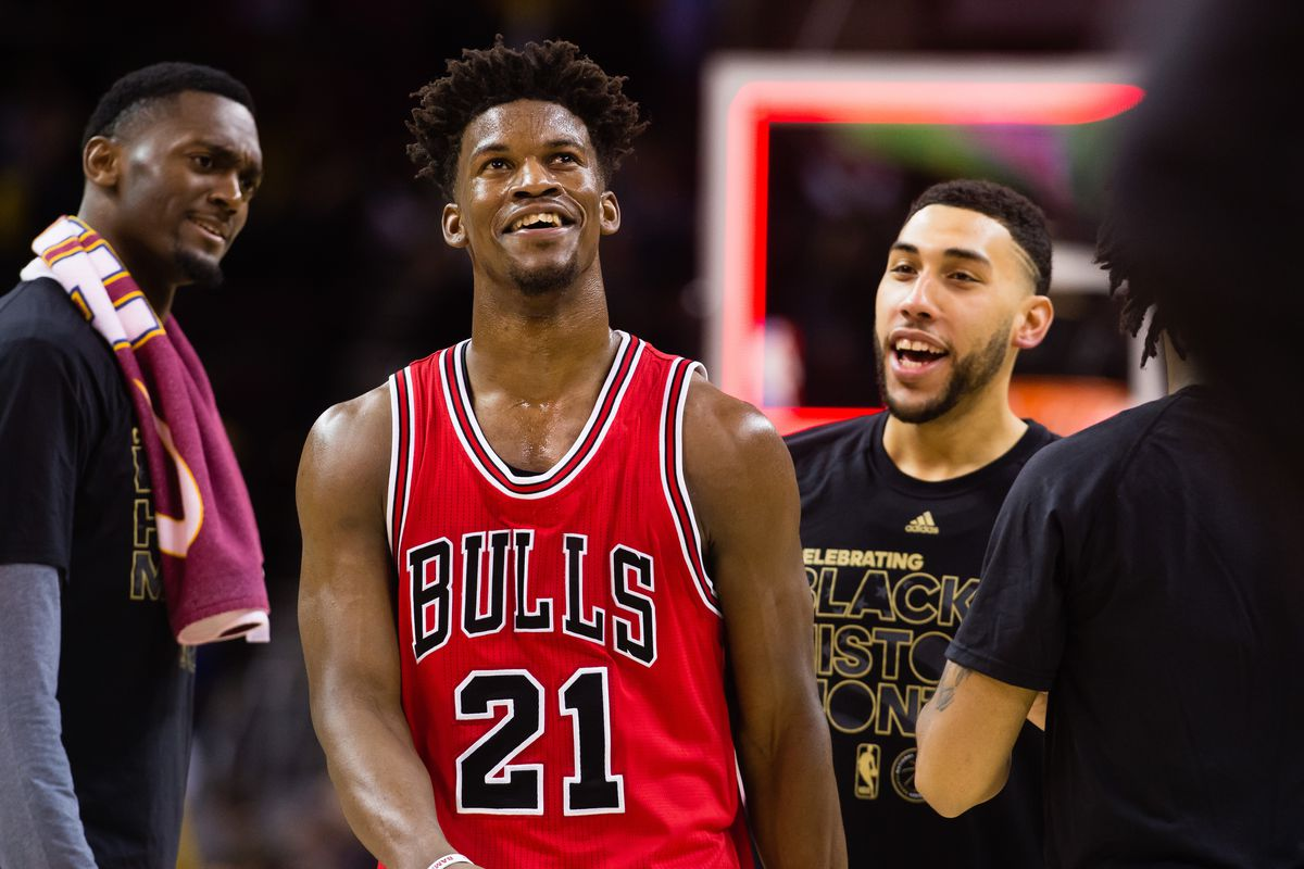 the latest 3a333 a5ccd Jimmy Butler treated 35 Bulls staffers to dinner after being ...