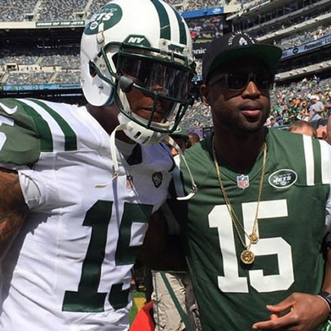 Dwyane Wade watched Jets game in Brandon Marshall jersey - Chicago ...