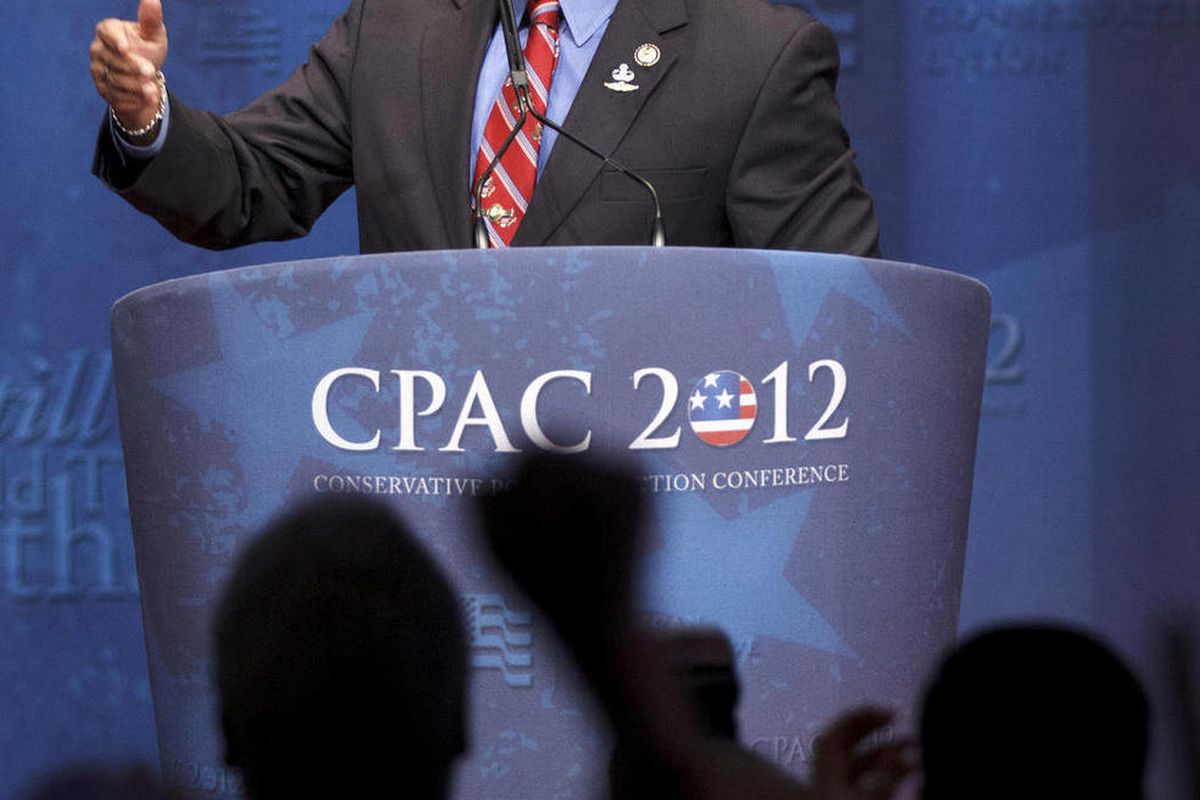 FILE - In this Feb. 10, 2012, file photo, Rep. Allen West, R-Fla., speaks at the Conservative Political Action Conference (CPAC) in Washington. The Florida congressman's recent comments comparing Democrats to Nazis and describing President Barack Obama as