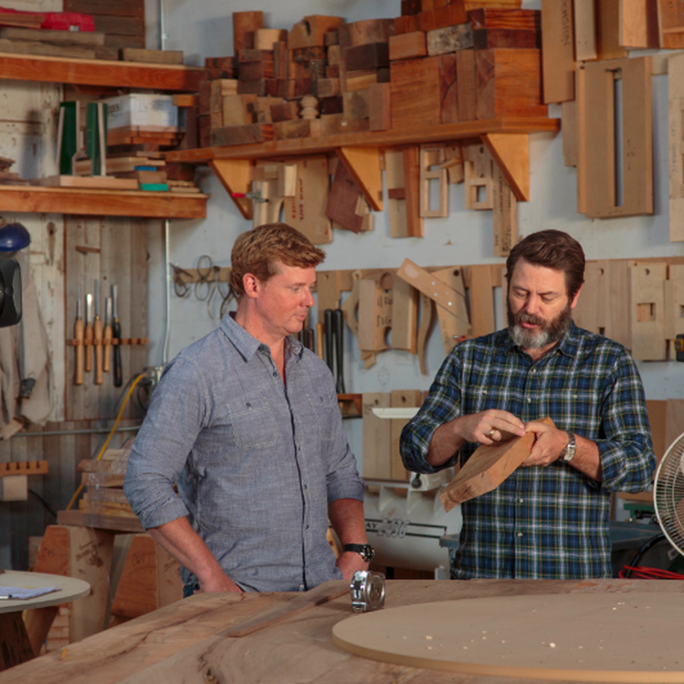 nick offerman to showcase his woodworking skills on channel