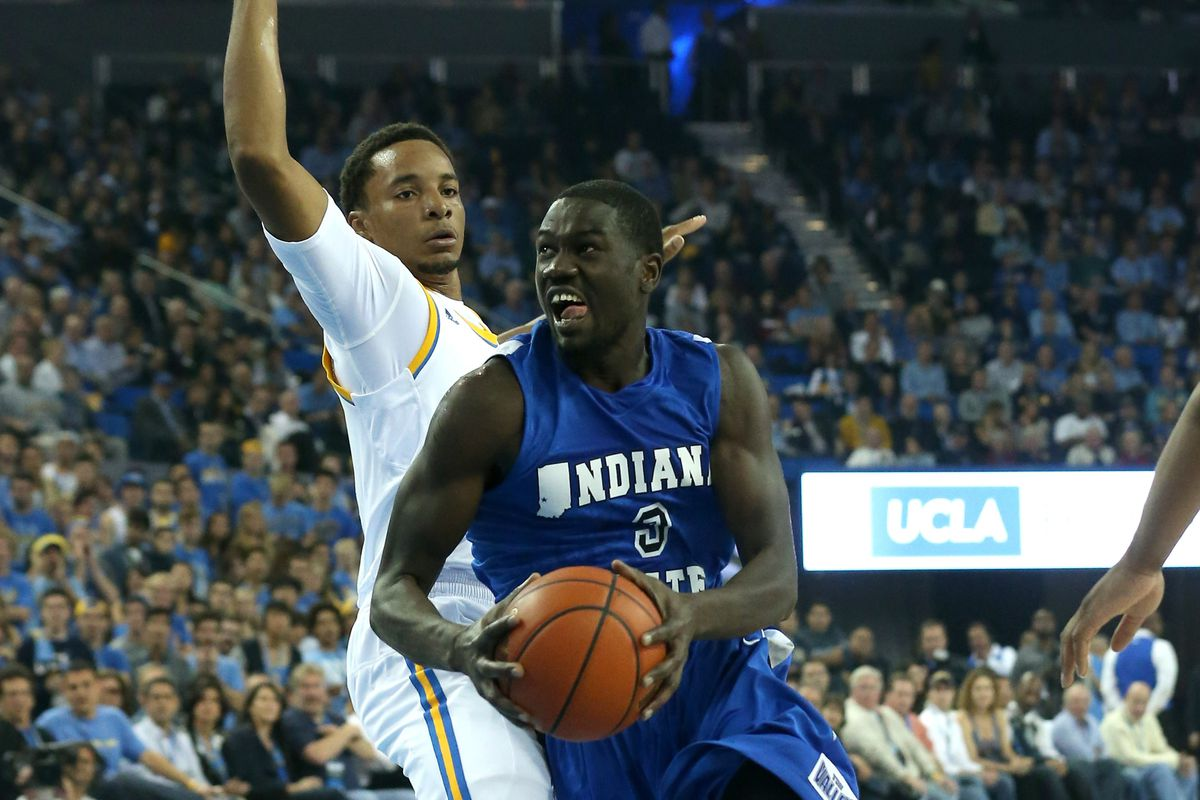 Manny Arop led Indiana State to its third top-50 win of the year