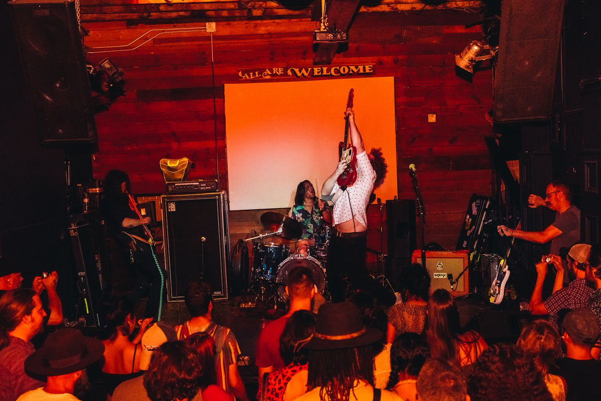 An indoor concert at Mohawk