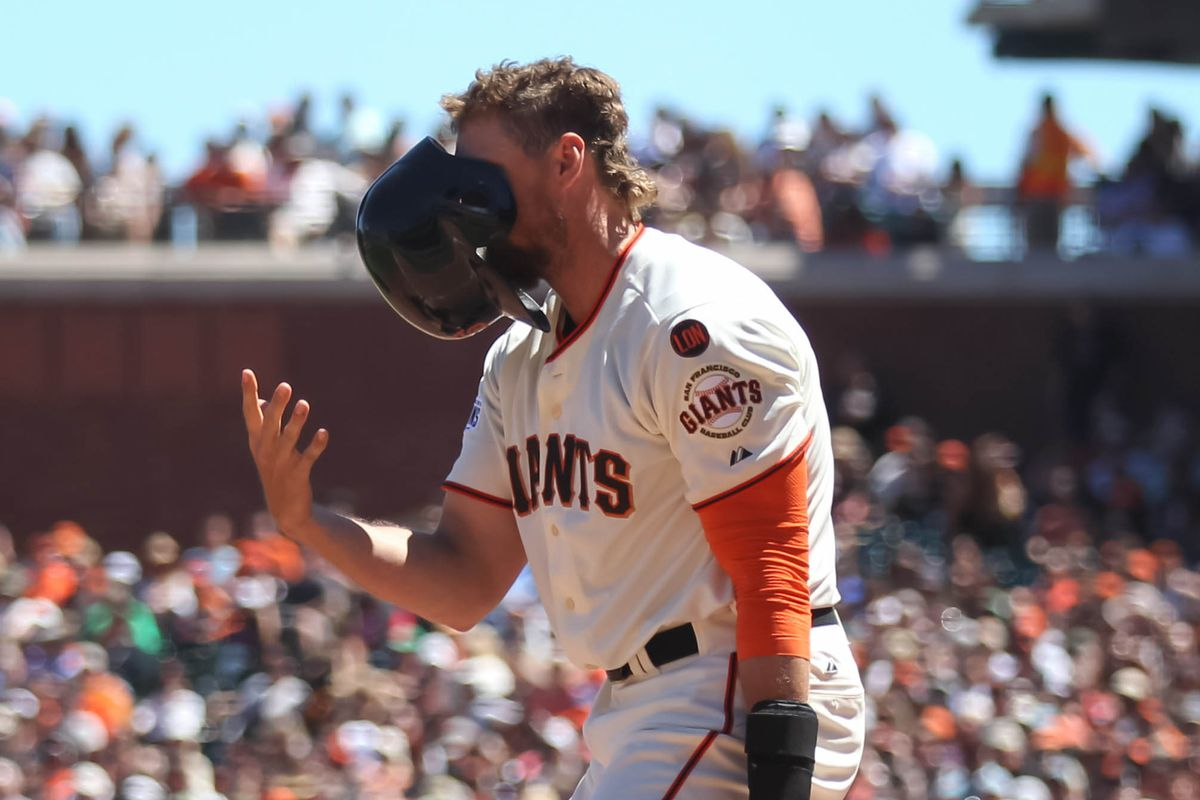 Pictured: Giants OF Hunter Pence practices his Mickey Mouse impression in private.