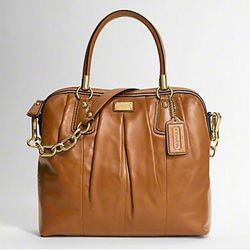 Kristin Leather Pleated Satchel ($398)