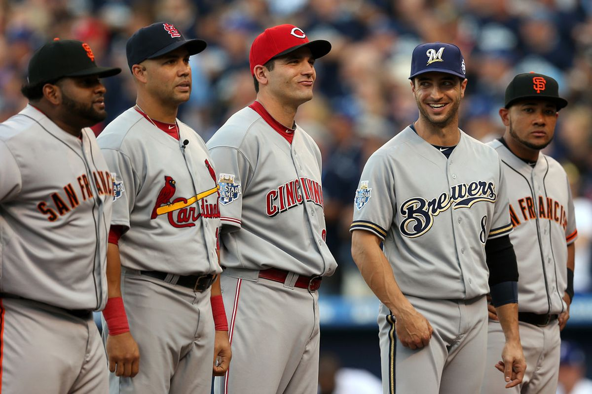 After spending a week with these guys, Ryan Braun is back with his real teammates tonight.
