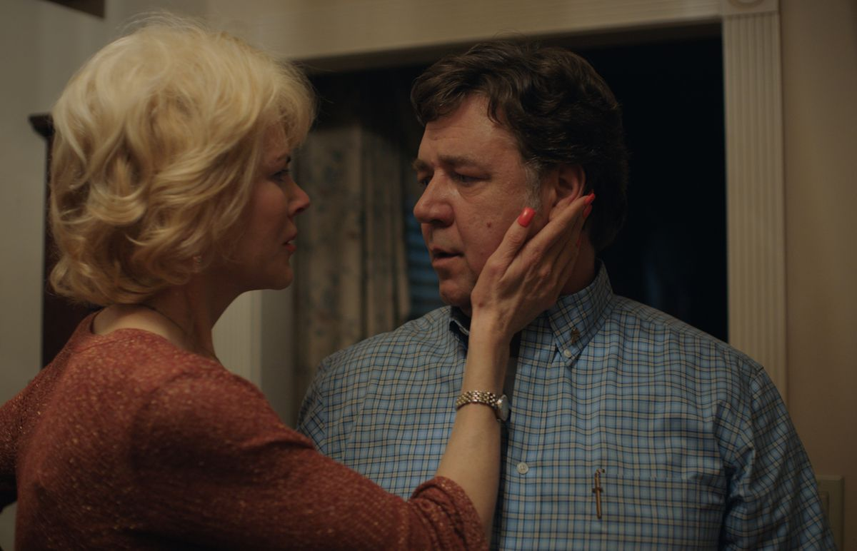 """Nicole Kidman and Russell Crowe play Jared's concerned parents in """"Boy Erased.""""   Focus Features"""
