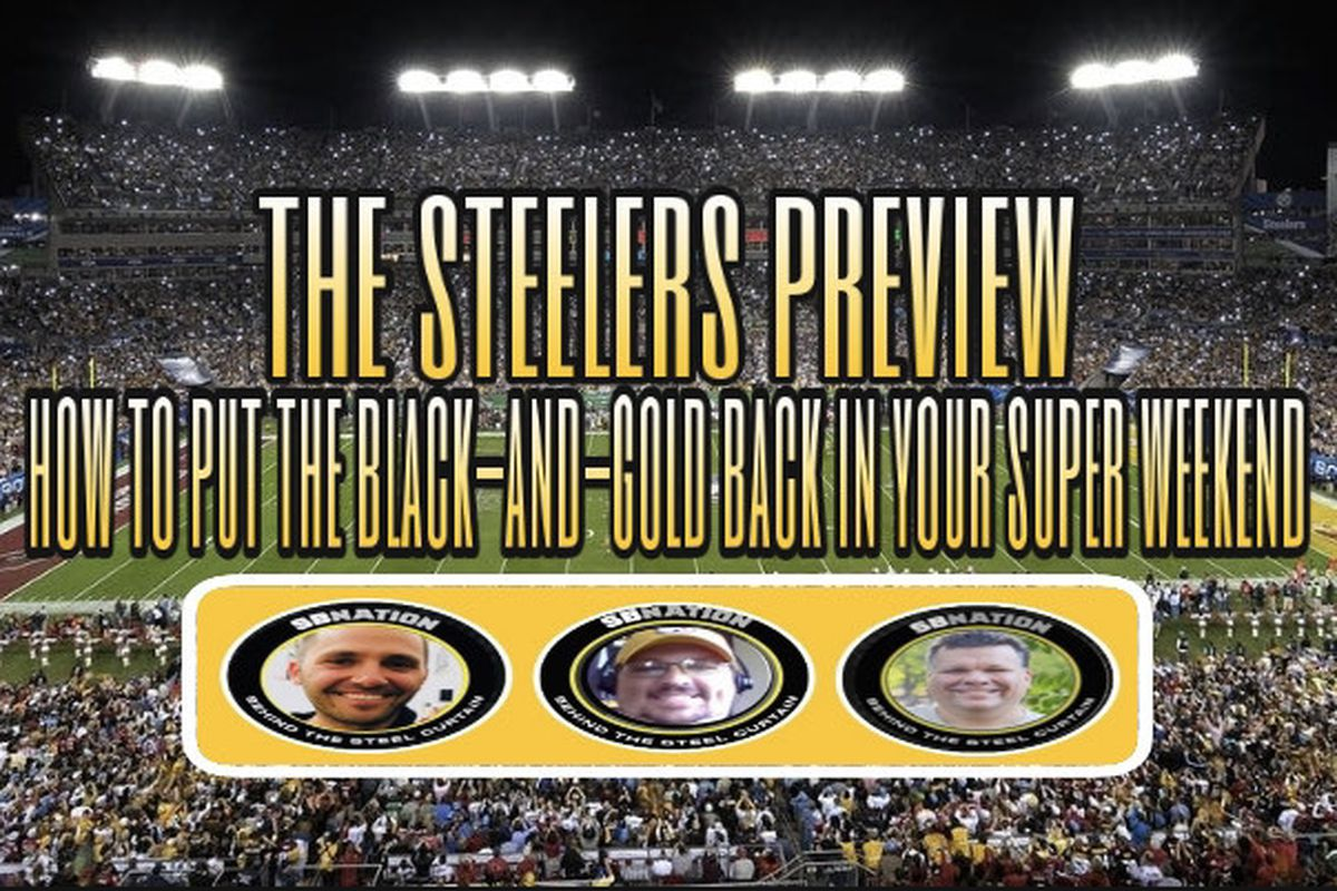 How To Put The Black And Gold Back Into Your Steeler Less Super Bowl Behind The Steel Curtain