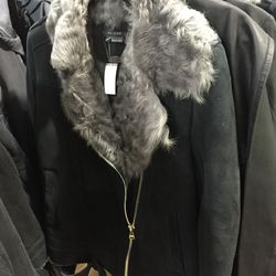 Scoop NYC shearling moto jacket, $324 (from $1,295)