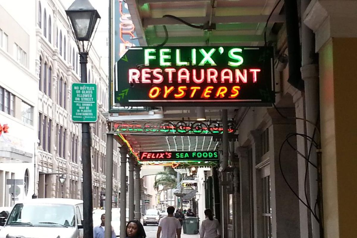 Felix S Oyster Bar Heads Back To Bourbon Eater New Orleans
