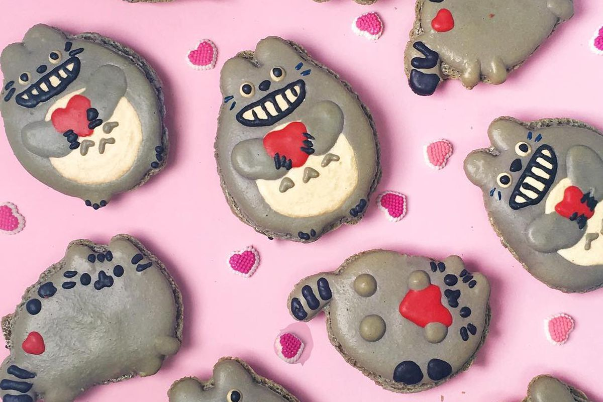 Totoro and Pusheen macarons from OMG Squee