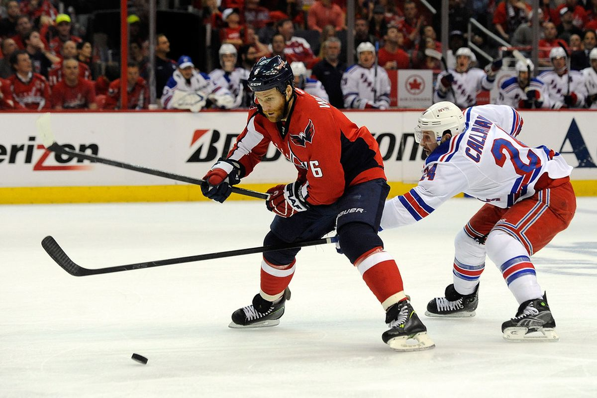 Awkward place for a stick. (Photo by Patrick McDermott/Getty Images)