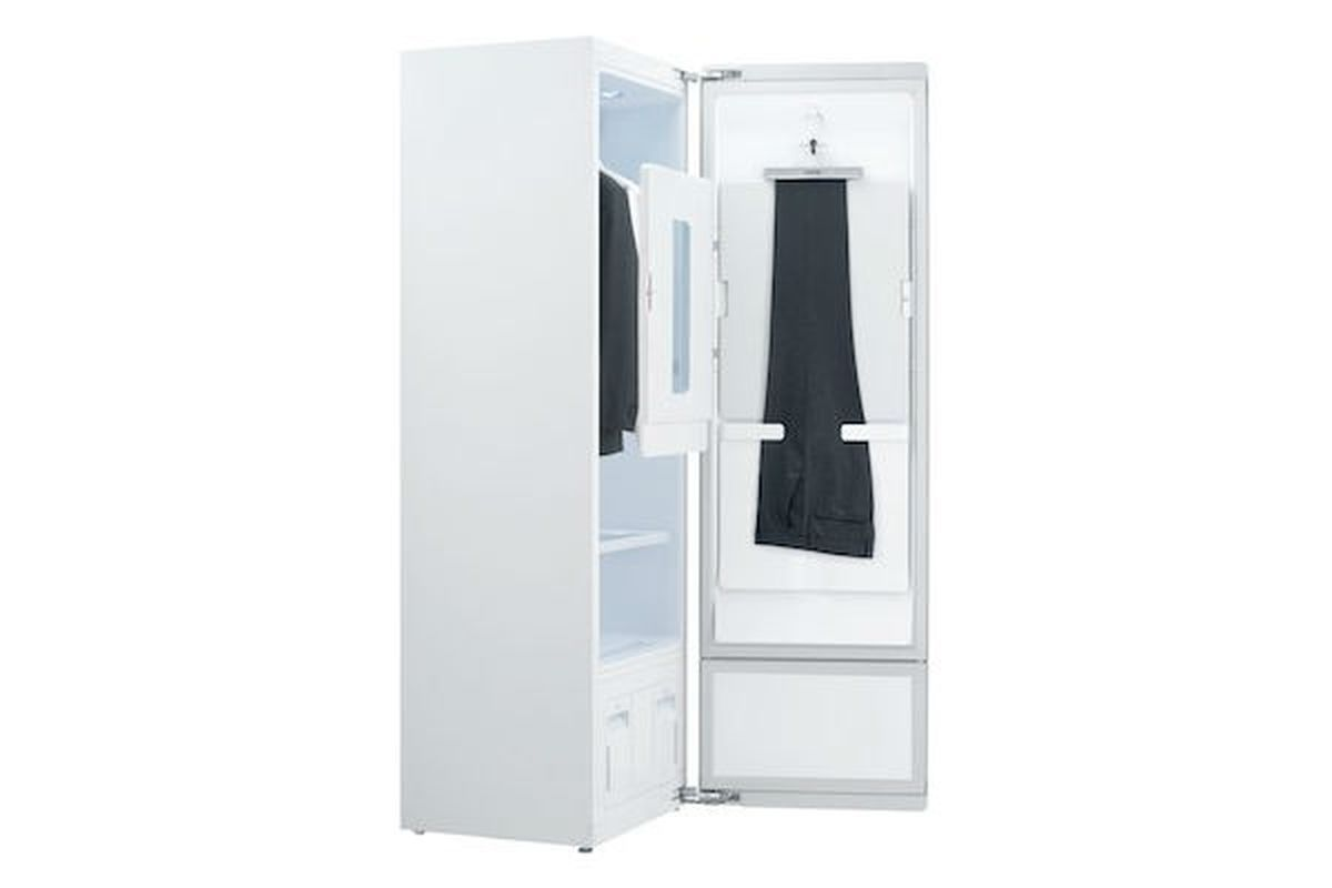Lg S Steam Cleaning Closet Is Now Family Sized The Verge
