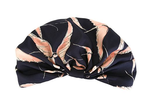 A turban printed with birds by Valentino