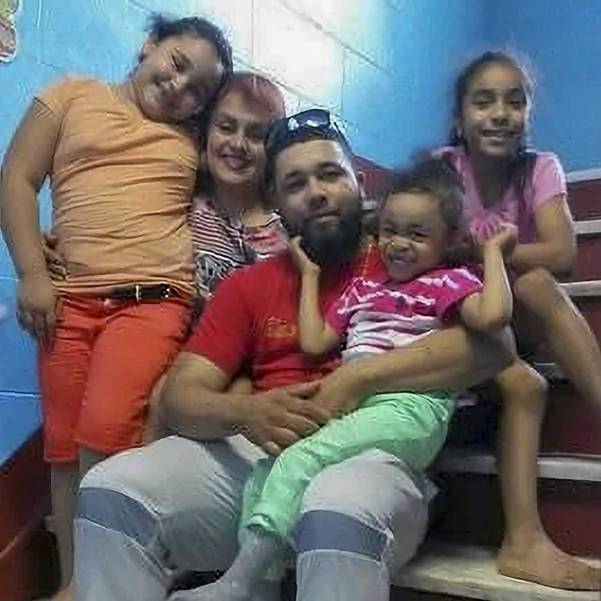 Joel Gomez Dominguez, Ileana Cotto and their daughters.