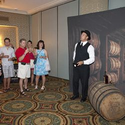 """Heaven Hill Distilleries presents a mock process on the history of bourbon making at the """"Unlock A Legend"""" event Saturday afternoon."""