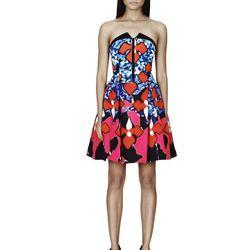 Jacquard Dress in Red Iris Print, $79.99