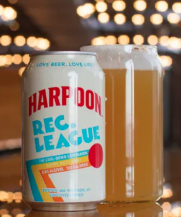 Harpoon Brewery's Rec. League beer is made with ingredients such as chia seeds and a whole grain cereal called buckwheat kasha — both add minerals and B vitamins — and Mediterranean sea salt, which yields electrolytes.