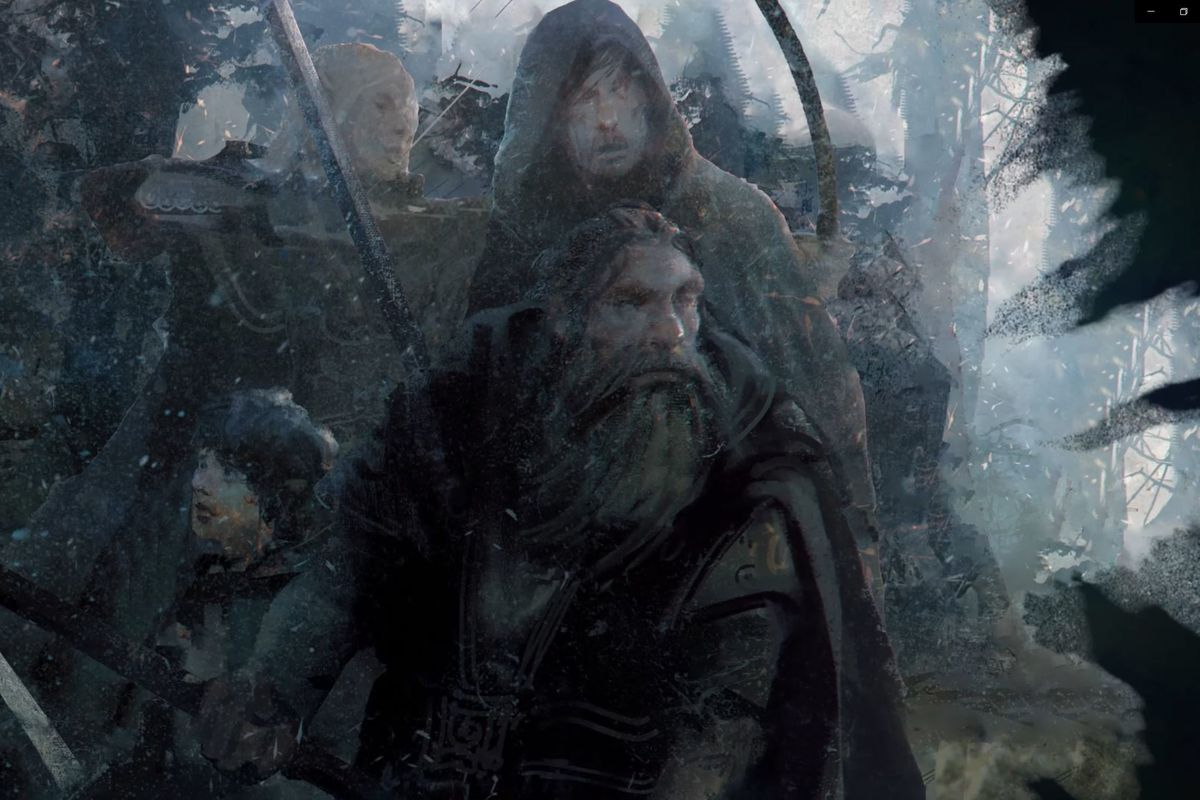 A stylized portrait of the Fellowship of the Ring in the Mirkwood. From the publisher: There's only one hope against the Enemy, and that lies in unity. The Free Peoples must make a stand, and fight back.