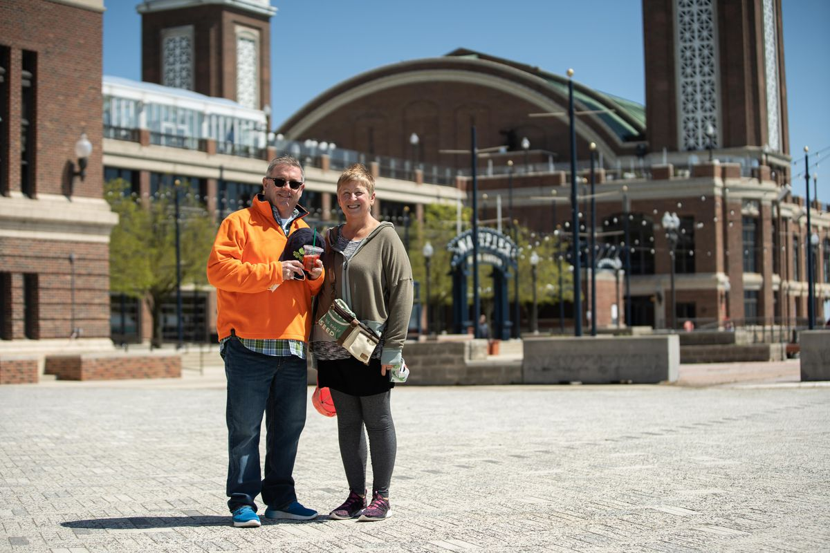 Patrick Murphy, 60, and his wife, Linda Murphy, 58, from Akron, Ohio visited Navy Pier on Friday.