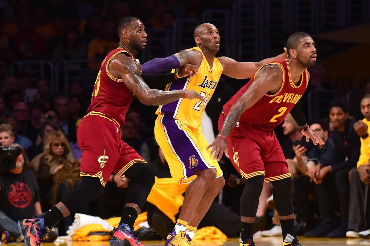 75db3d7cc4bb Kyrie Irving takes Kobe Bryant over LeBron James on a shady Monday