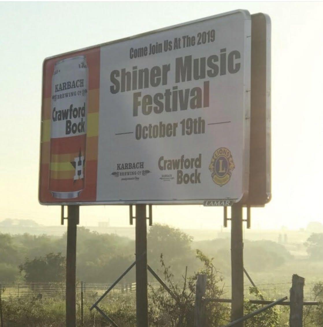 Shiner Music Festival billboard