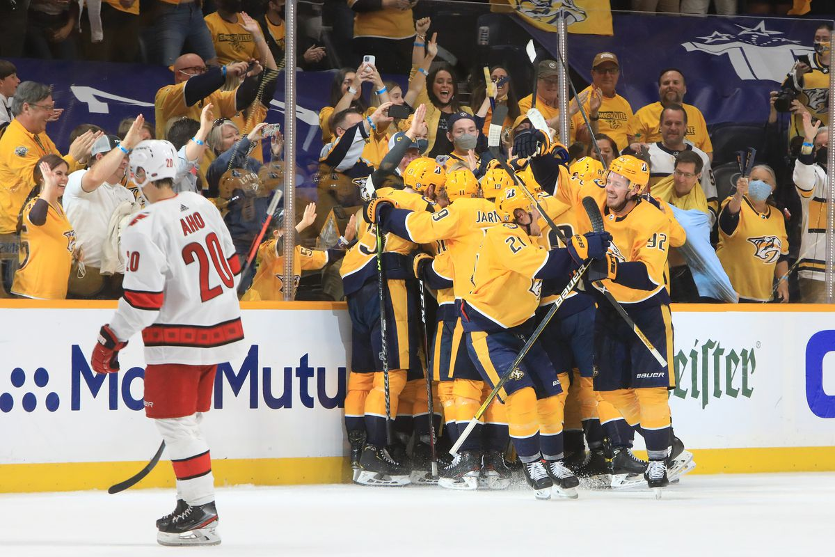 NHL: MAY 21 Stanley Cup Playoffs First Round - Hurricanes at Predators