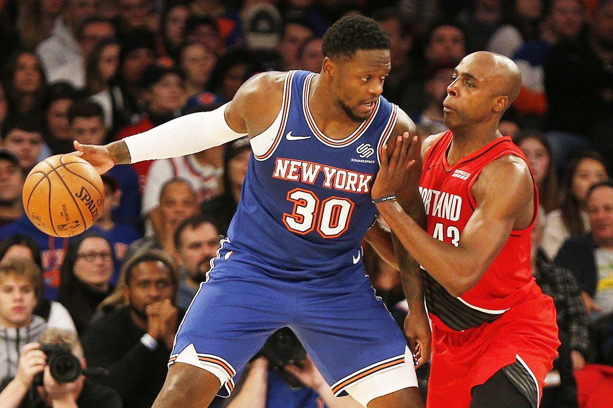 NBA: Portland Trail Blazers at New York Knicks