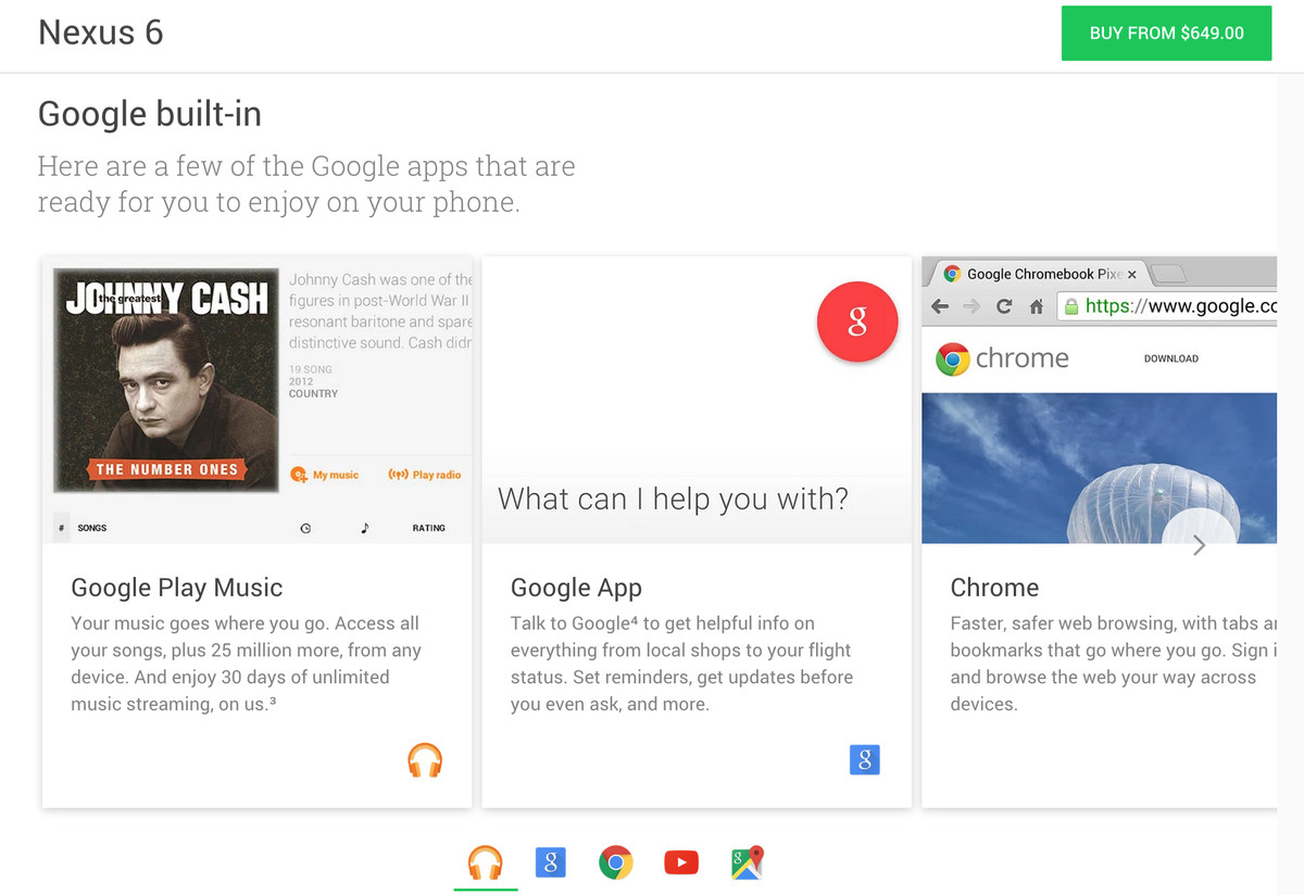Google Store featured services