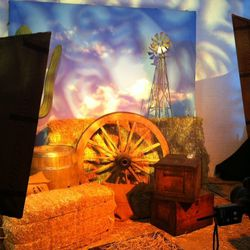 Guests were encouraged to get their photos taken with a Western backdrop