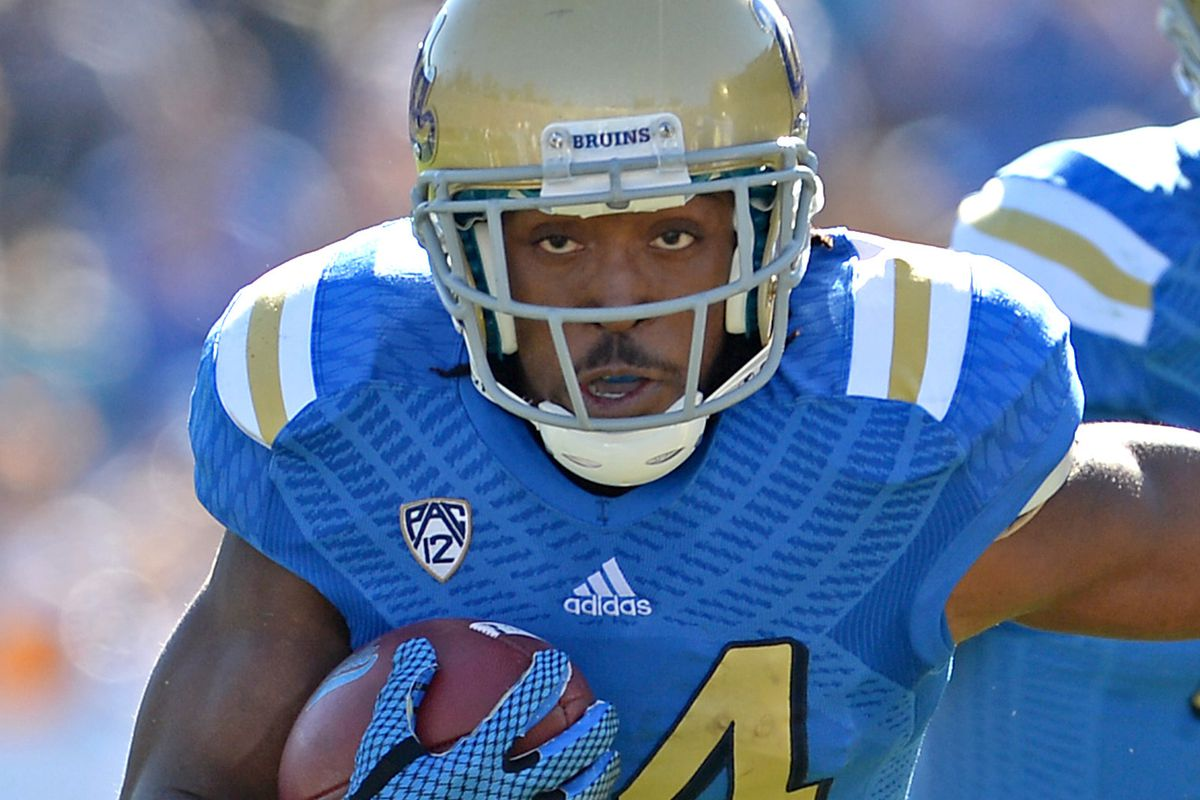 RB Paul Perkins stands (runs) to gain the most of any Bruin at the NFL Combine
