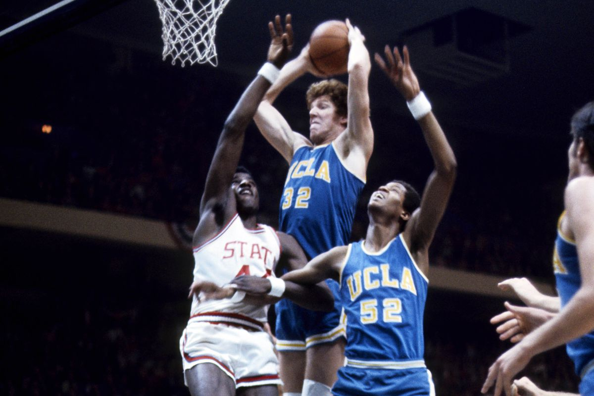 Bill Walton and David Thompson in the 1974 Final Four classic.