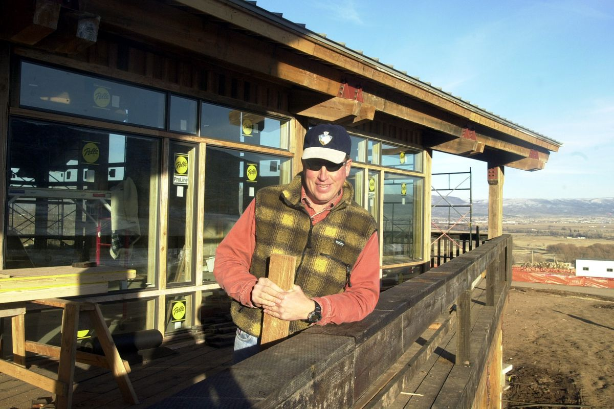 Howard Peterson poses at the nearly-complete day lodge at Soldier Hollow Dec. 2, 2000. Peterson is the head of the Soldier Hollow Legacy Foundation. Peterson died May 11.