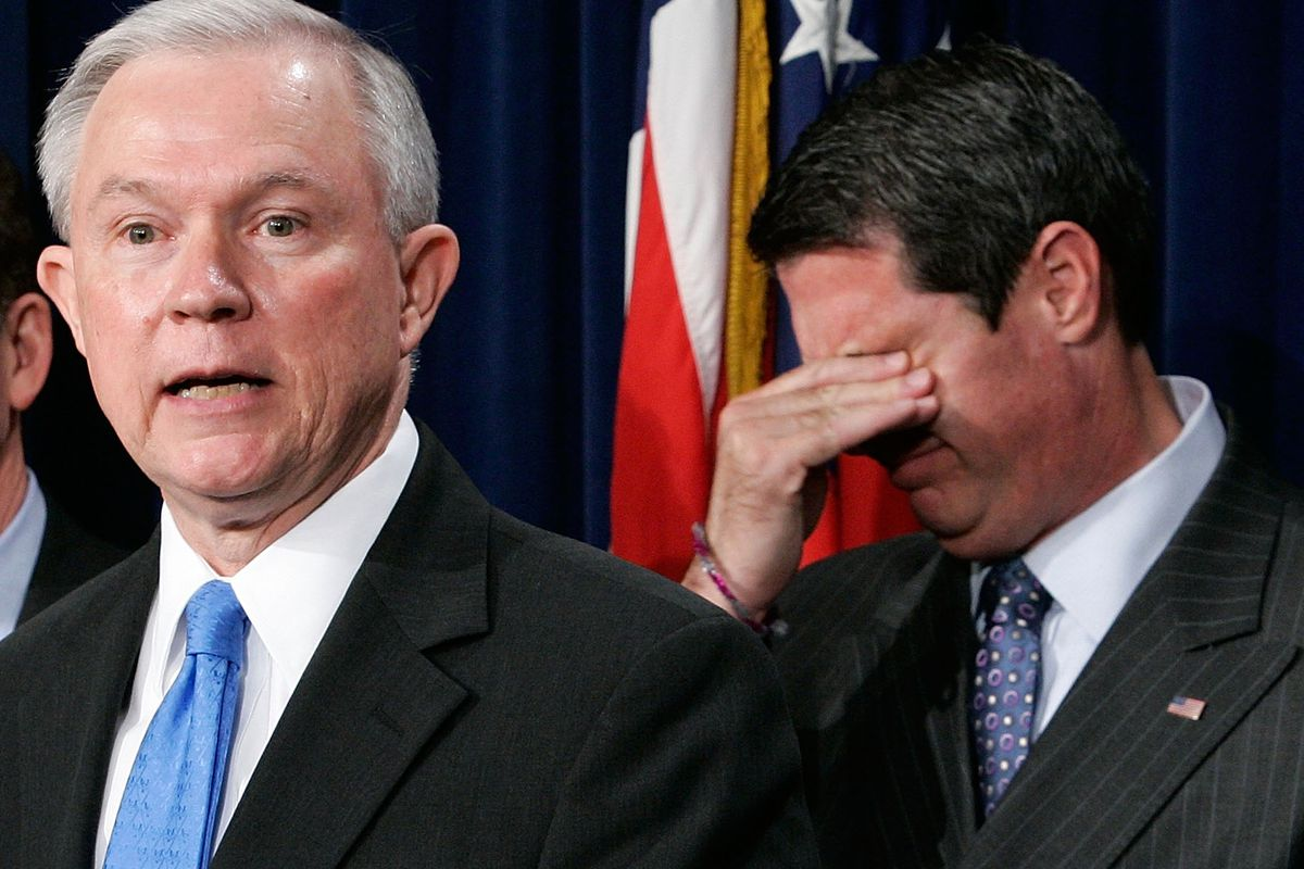 David Vitter (right) feels in this picture about the same way other Republicans probably feel about his appointment.