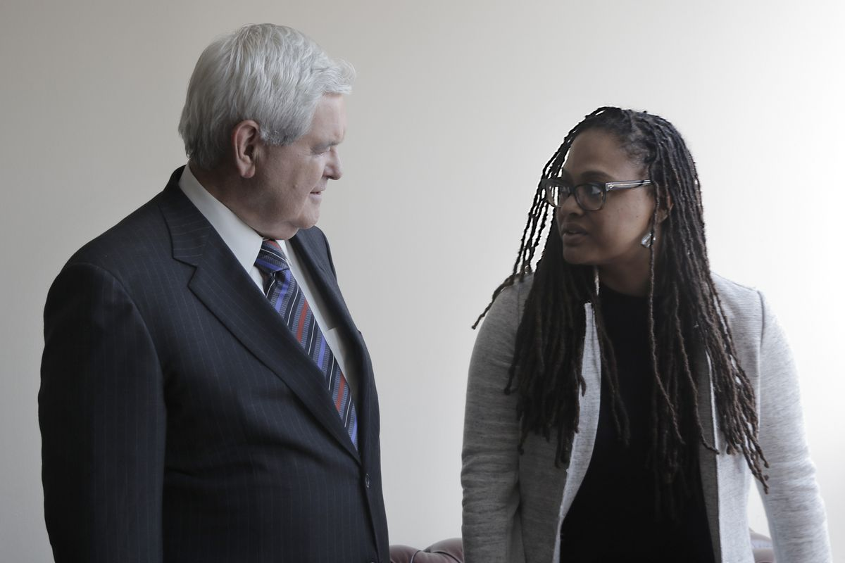 Newt Gingrich speaks with 13th director Ava DuVernay.