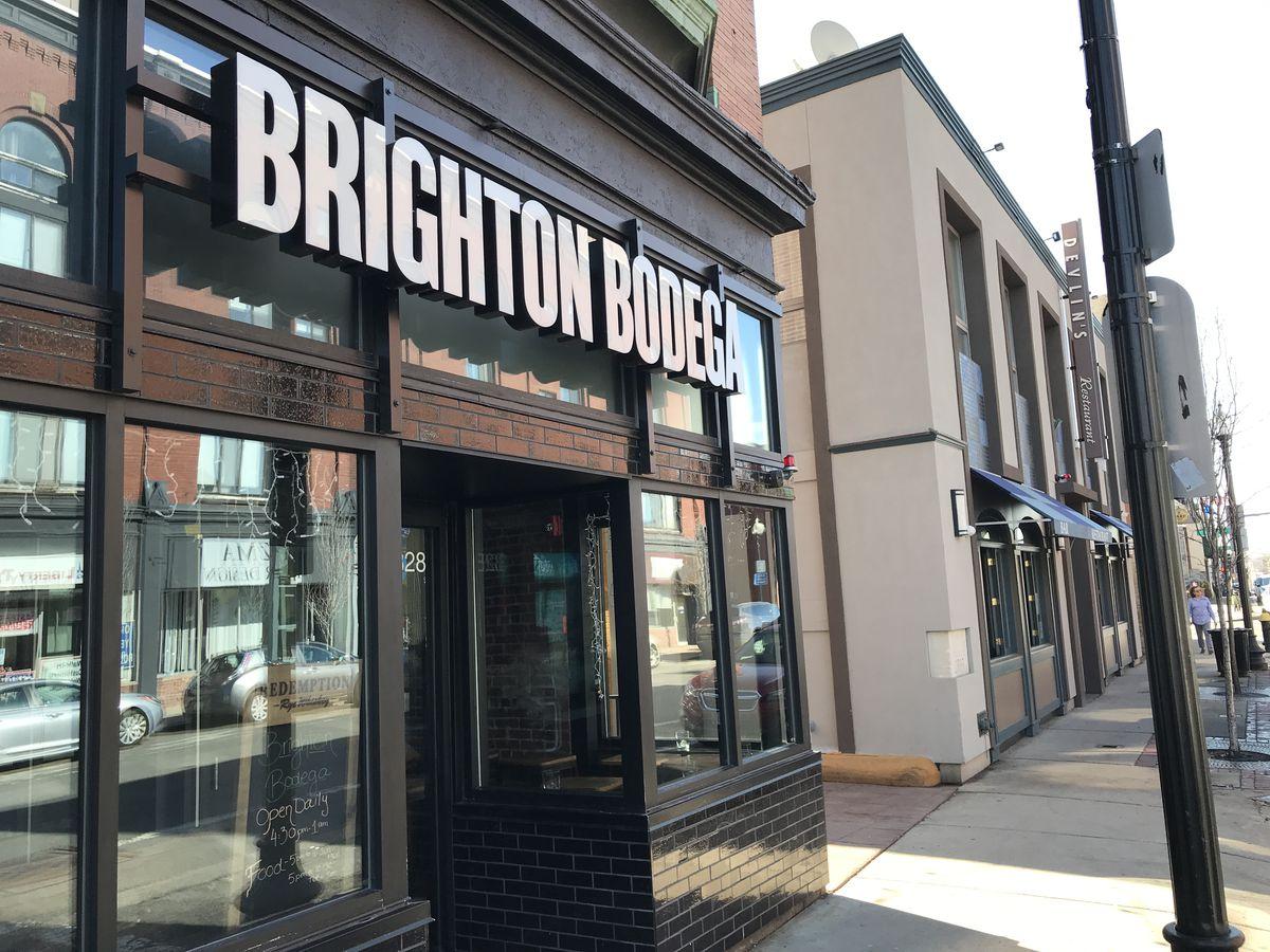 The facade of Brighton Bodega on Washington Street in Brighton