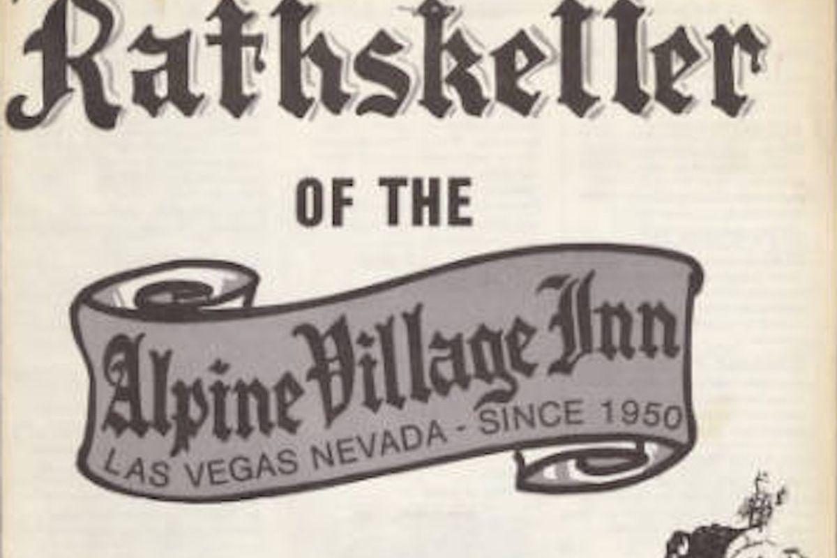Rathskeller at Alpine Inn menu