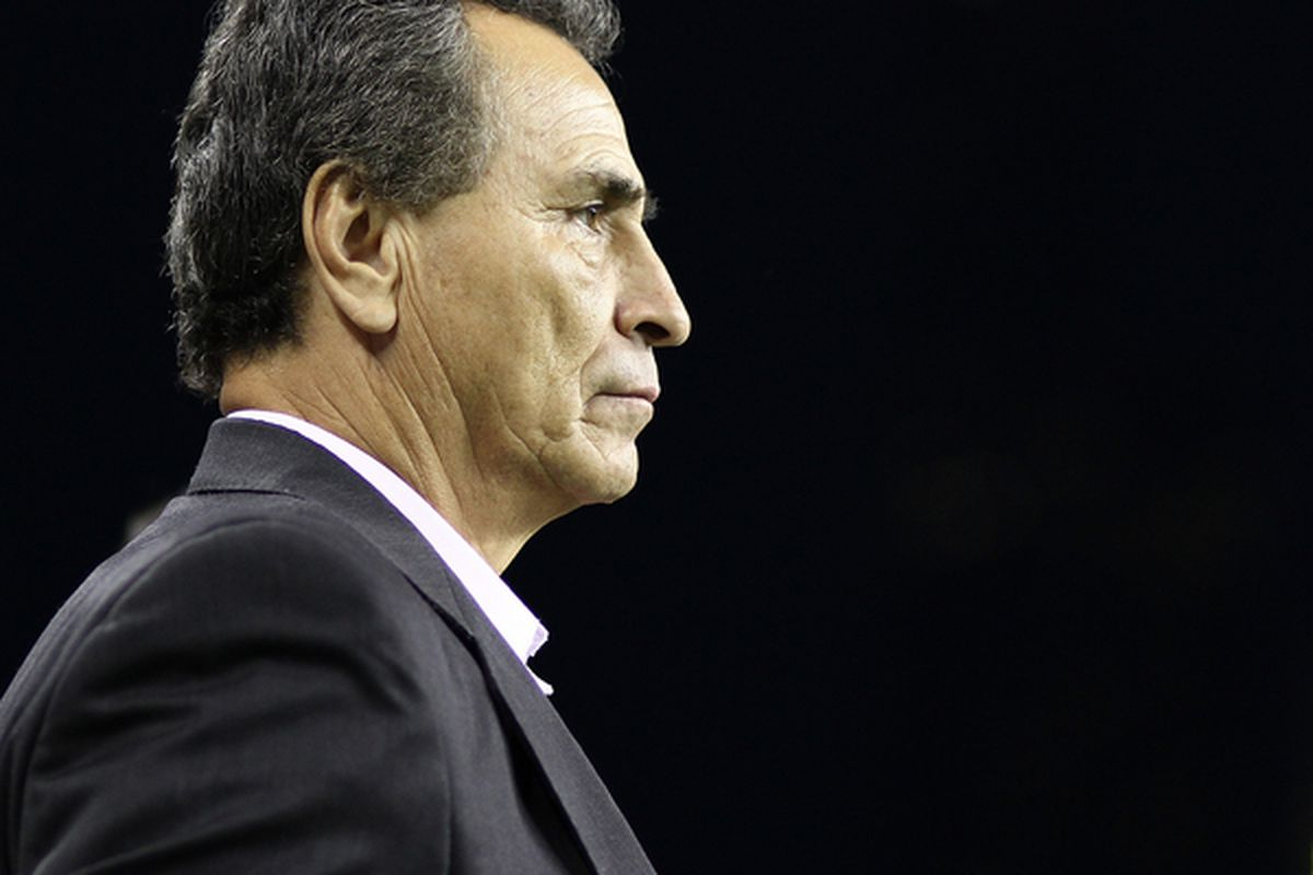 Head coach Jose Luis Real of Chivas de Guadalajara will be hoping to book a play-off place on Saturday after a lot of criticism in the last year.