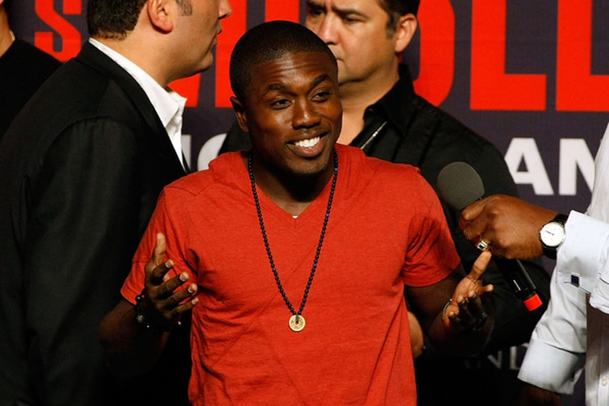 Andre Berto will be looking to get back into the winner's circle when he takes on Jan Zaveck this Saturday. (Photo by Ethan Miller/Getty Images)