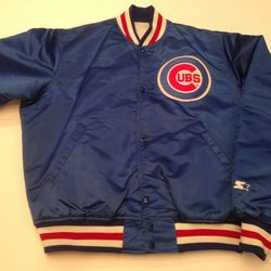 """Stay on-trend (and warm) in a retro varsity <a href=""""http://www.etsy.com/listing/128181940/vintage-chicago-cubs-starter-diamond?ref=sr_gallery_26&ga_search_query=chicago&ga_view_type=gallery&ga_ship_to=US&ga_search_type=vintage"""">jacket,</a> which goes fro"""