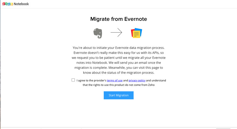 Zoho_warning_about_migrating_from_Everno