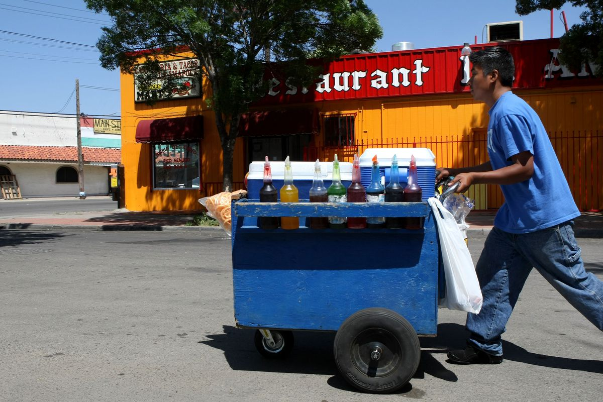 Snow cones come to you! What service!