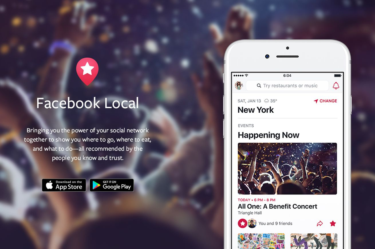 facebook relaunches events as a foursquare like app called local