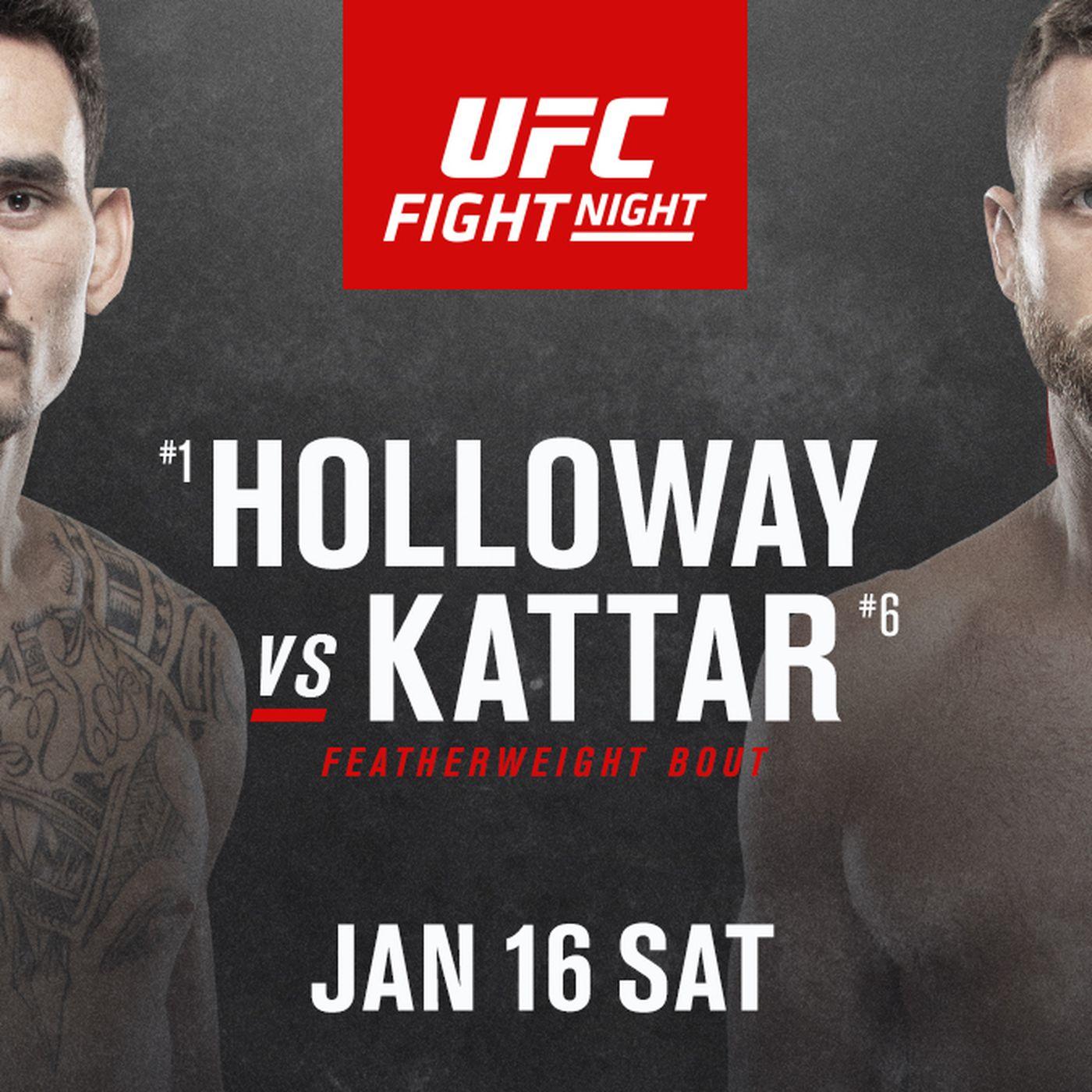 Latest Ufc Fight Island 7 Fight Card On Abc Espn Lineup For Holloway Vs Kattar On Jan 16 Mmamania Com