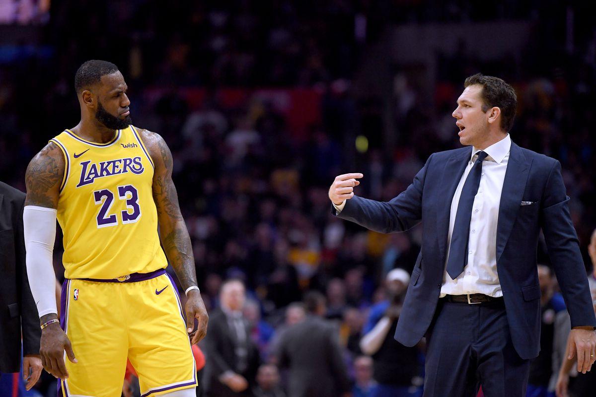 dde827abbe9e Lakers News  Luke Walton says he and LeBron James  get along just ...