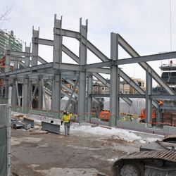 Another view of the left-center field structure -
