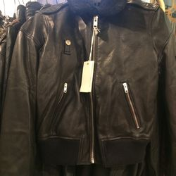 Leather jacket, $249.50 (was $998)
