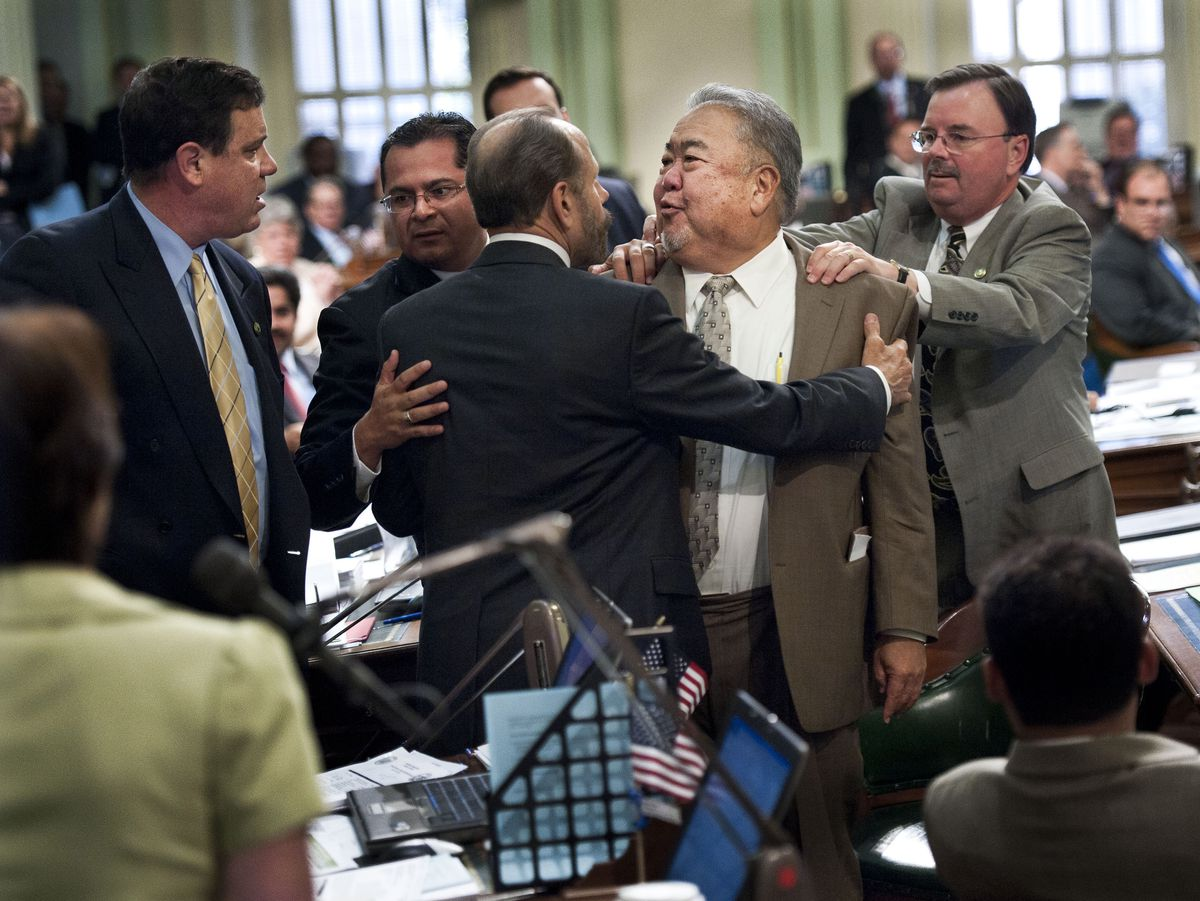 california assembly fight