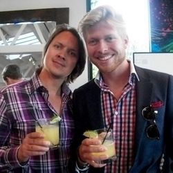 Moods of Norway's Stefan Dahlquist and SuperVictor (yes, honestly, that's how he was introduced)