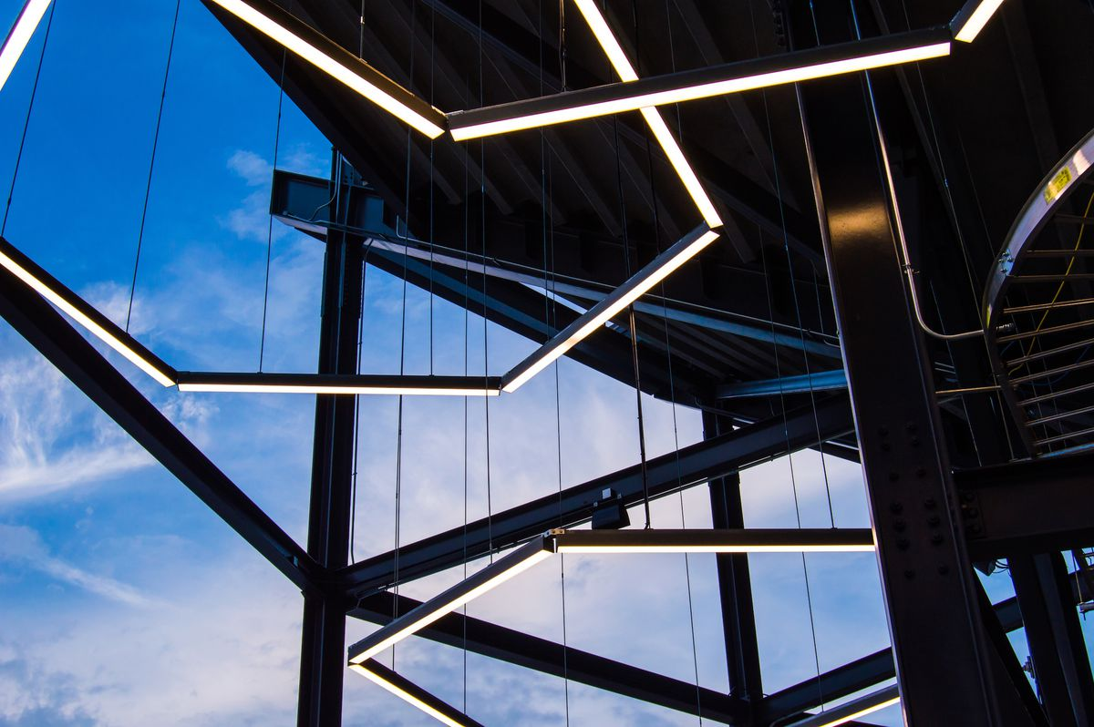 7 Cool Design Facts To Know About Dc Uniteds Audi Field Goodman Electric Panel Cherry Hill Edison Haddonfield Hightstown Lakewood Dont Miss The Circulation Tower Featuring Hexagon Shaped Soccer Ball Inspired Lights This Soaring Staircase Offers Views Of Pitch